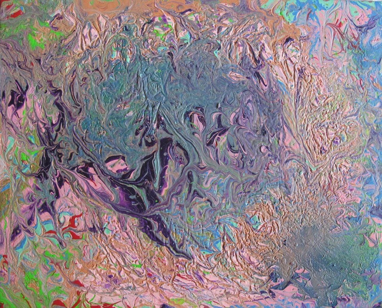 Orinoco Flow/Fluid Acrylic on Canvas/2012  SOLD