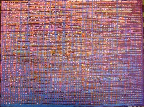 Ho!ocaust/Acrylic Paint, Hair, Found Objects on Canvas/2009  SOLD