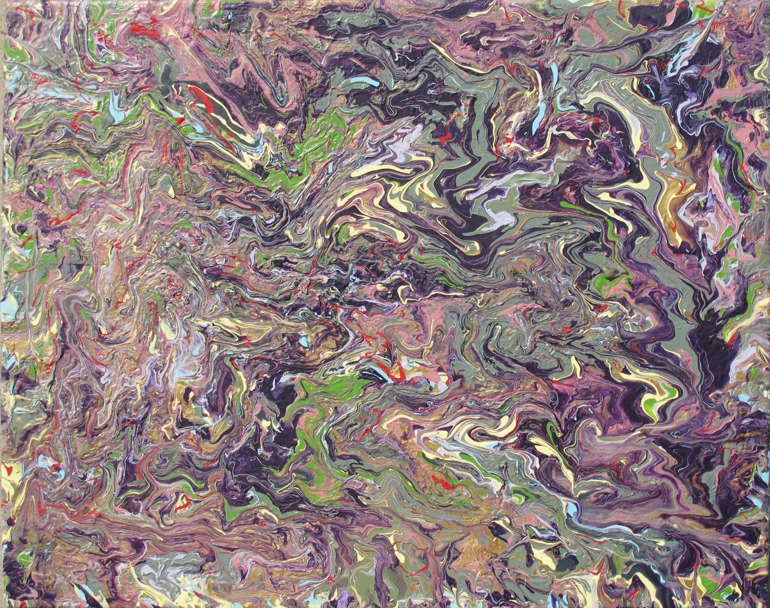 Purple Rain/Fluid Acrylic on Canvas/2012  SOLD