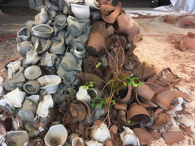 Not a permanent resident, but nothing ever is.  This is the last week to take a quickie pottery lesson with @katietroisi.  This is the last week to catch a performance of #therivalryofyourelements. Saturday night is the last time we will be open to the public. Join us for the #hambidgeHiVECS closing party 🎉 on Saturday June 3 • Pottery lessons Thursday 1-3pm, register on rivalryofyourelements.com • Performances Wednesday 7-9pm and Friday 12-2pm • Closing party Saturday 6-10pm • #artsatl #ceramics #smash #clay #pottery #performance #processoriented #atl #atlanta #weloveatl