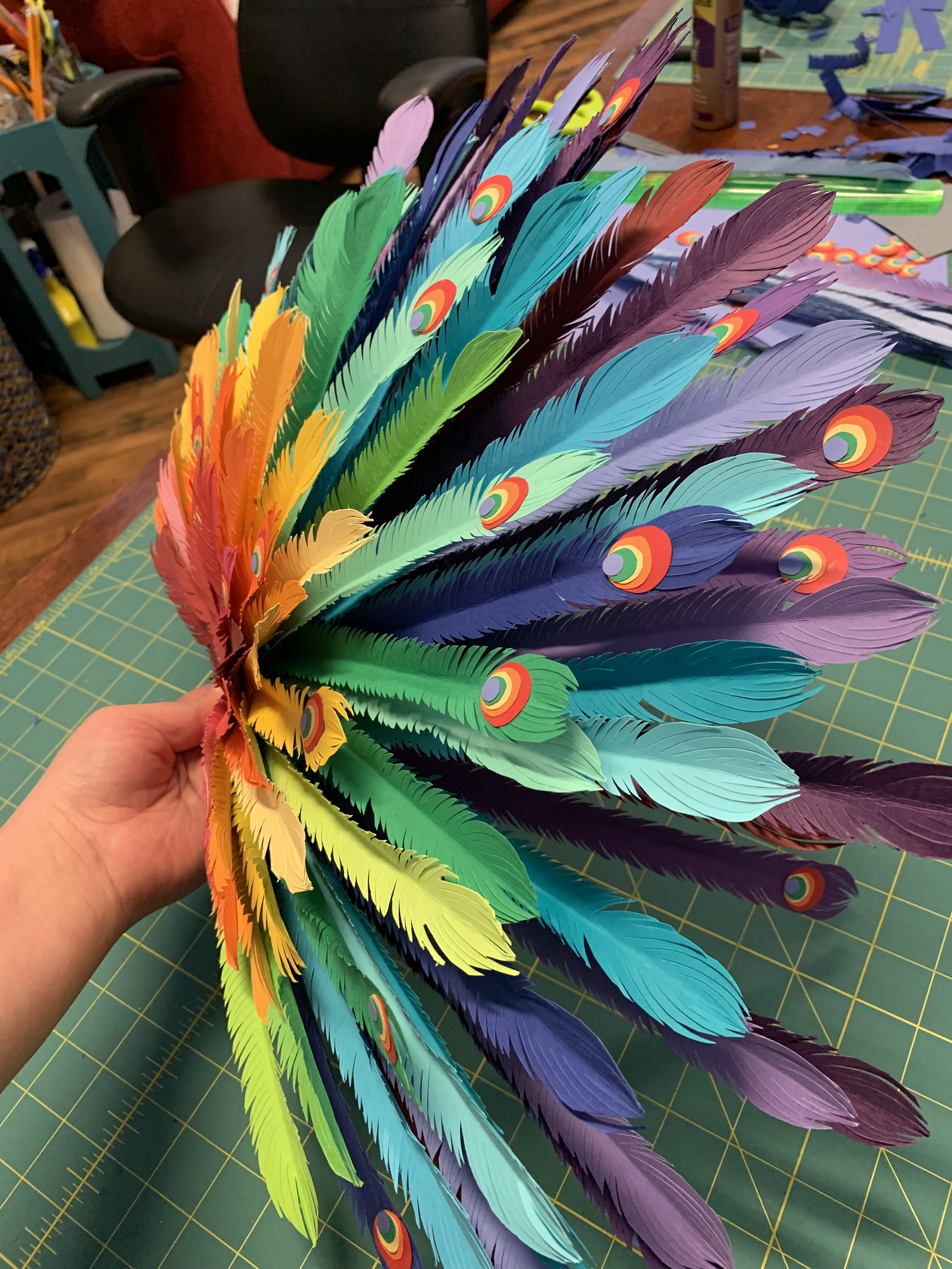 - I loved the way the feathers turned out!