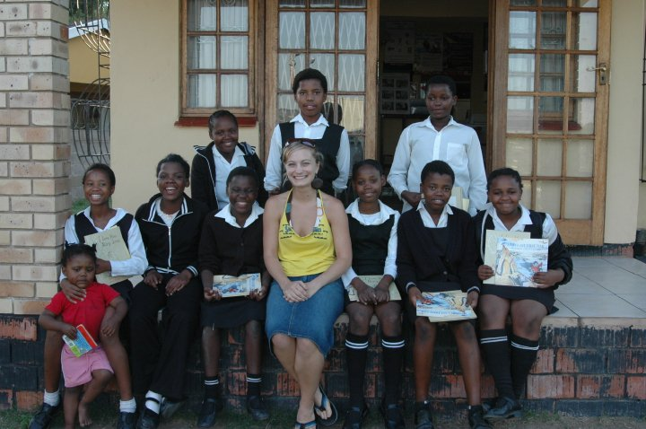 Me and my girls in KwaNdengezi, South Africa <3