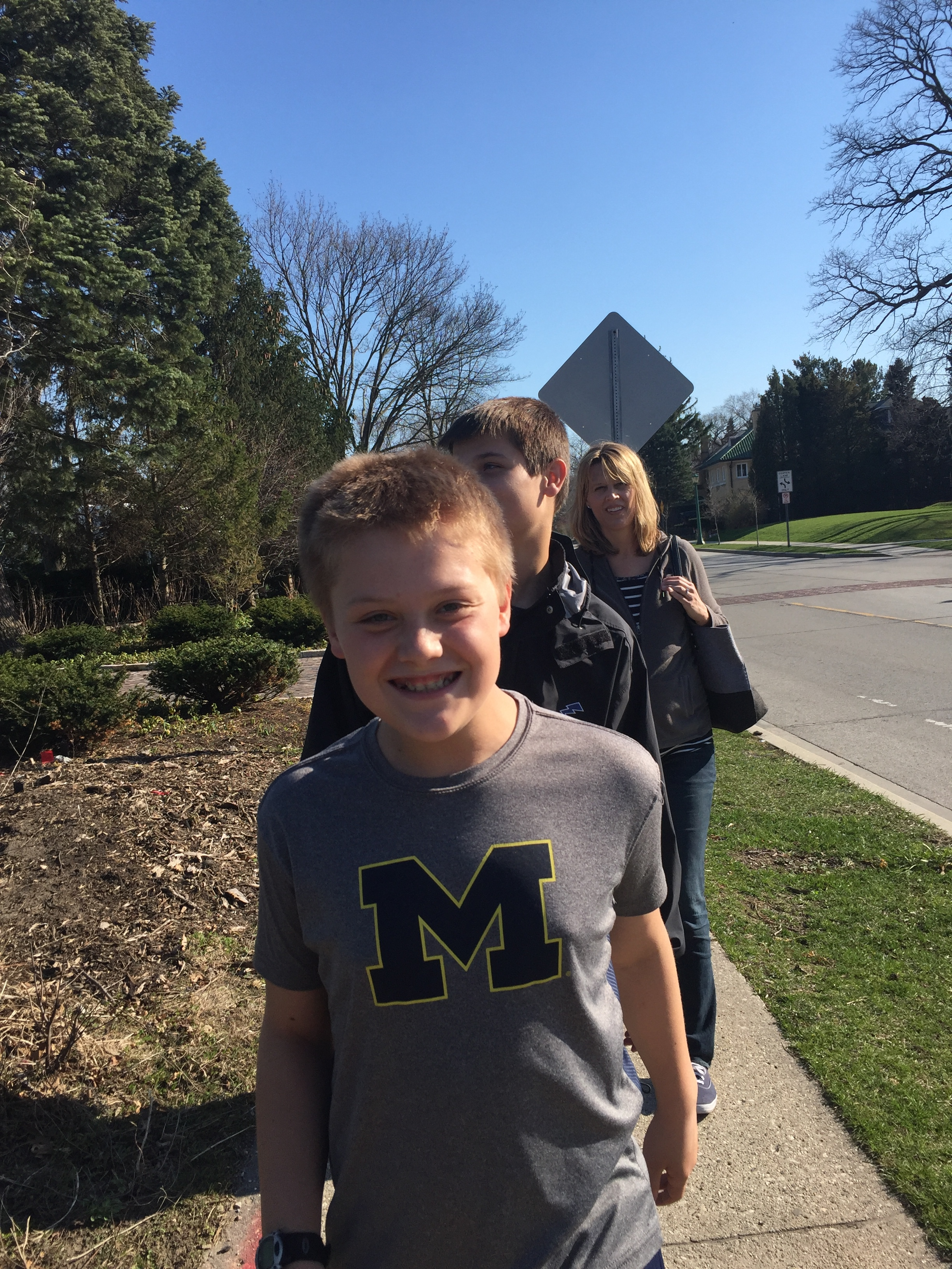 Liam proudly displays his Michigan pride.