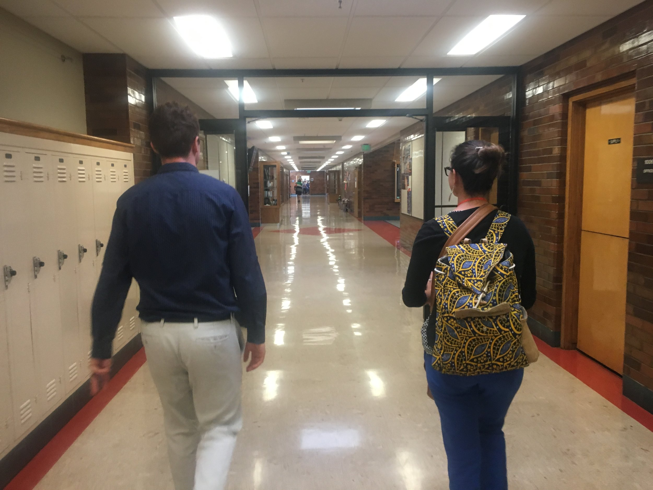 Touring SLCSE Campus on the RE-ENVISION ED  #schoolstour