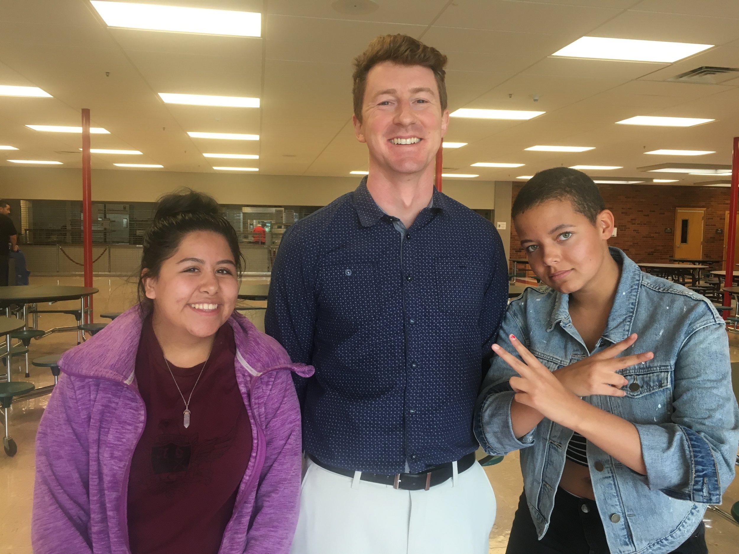 Elizabeth, Mr. Crandall, and Daija.