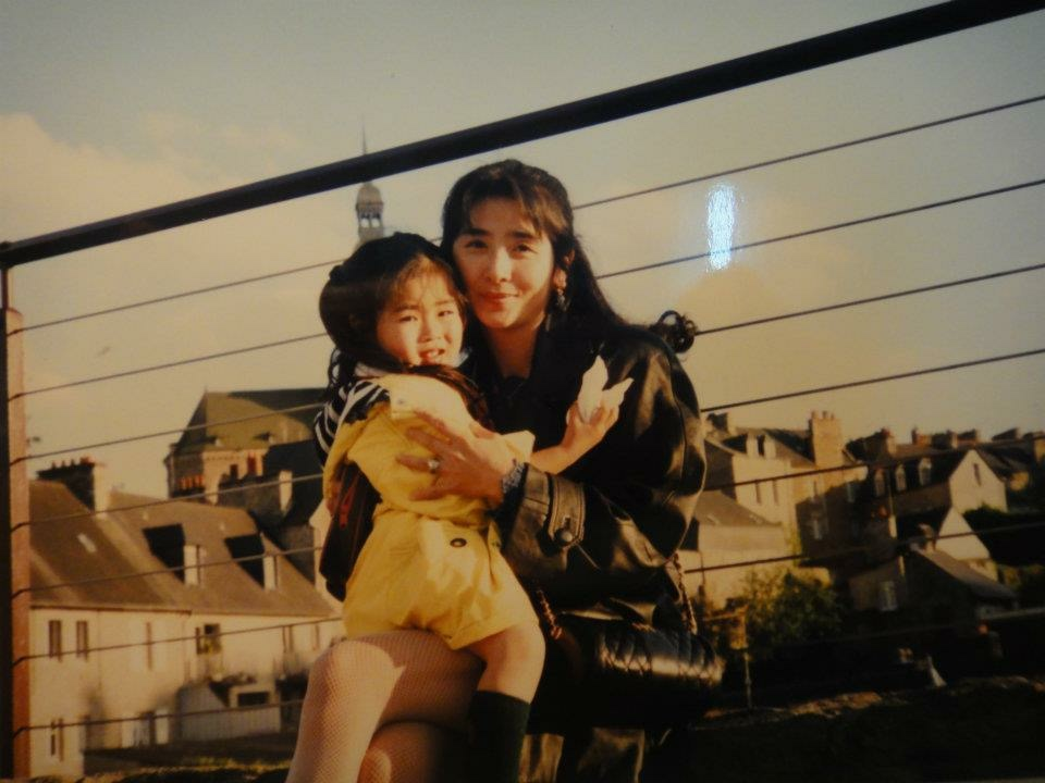 """Saya and her mother.  """"My mom's philosophy is that she wants to raise children who can do whatever they want in life, be happy, and be appreciated by society for the work that they do....wouldn't that be a happy life?"""""""