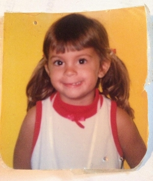 Me in Kindergarten. I was really cute. I was also really happy and engaged in my learning - despite writing my name backwards for some time. (I finally figured it out, by the way).