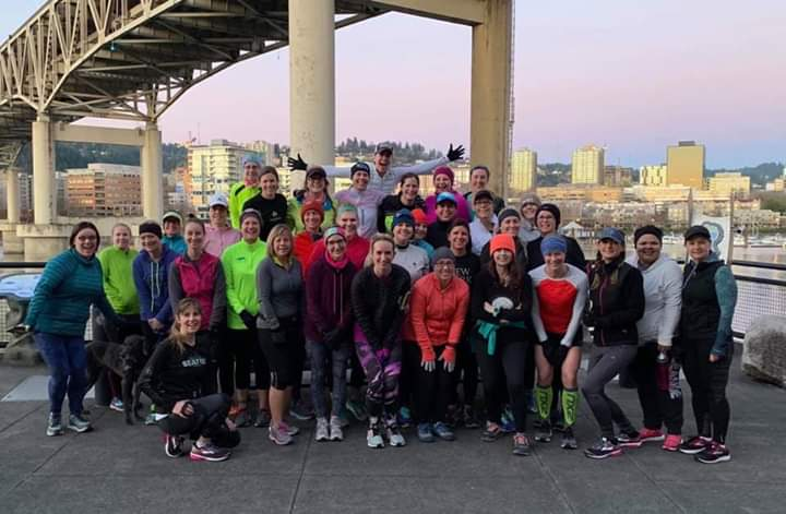 The turnout at our first BALG PDX Run in January 2019. Many of these badasses had never been to a group run before and about 3/4 of them came solo!