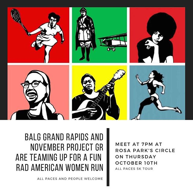 Calling all Grand Rapids, Michigan badasses! We have an awesome event in partnership with November Project of Grand Rapids where we get to check out the Rad American Women paintings and learn about the awesome ladies. Head on over to @badassladyganggr to learn more about the event and to let them know you're coming! Find more info at the link in the bio of @badassladyganggr #badassladygang #justshowup