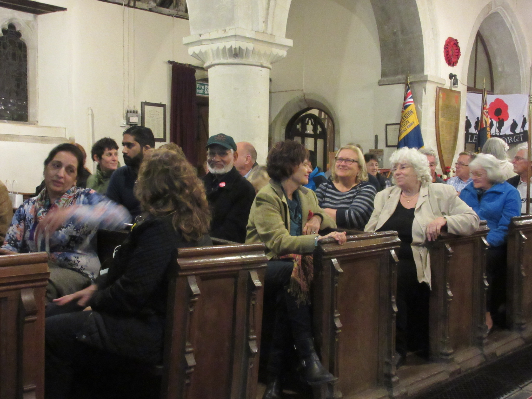 Residents and local politicians rub shoulders in the pews