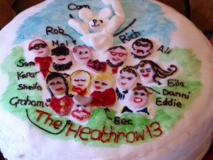 The Heathrow 13 celebrated in icing sugar