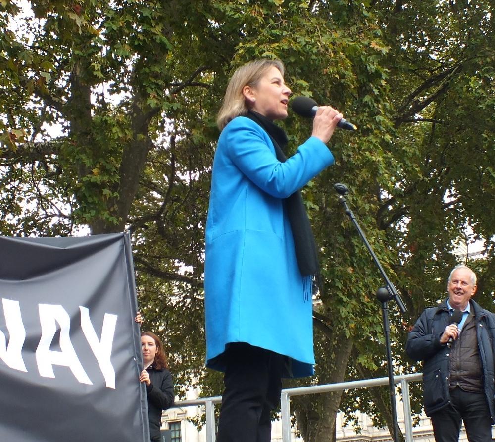 Tania Mathias MP delivers a passionate speech