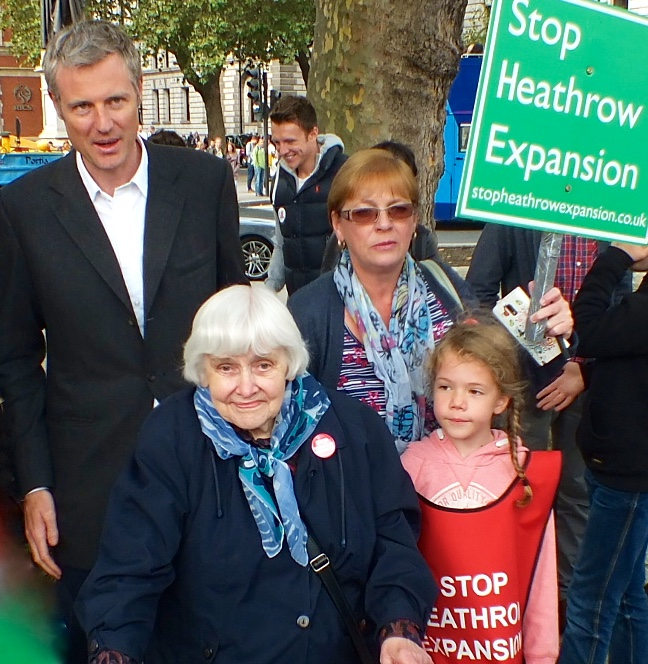 Zac Goldsmith joins campaigners including life-long Sipson resident Sheila Taylor (84)