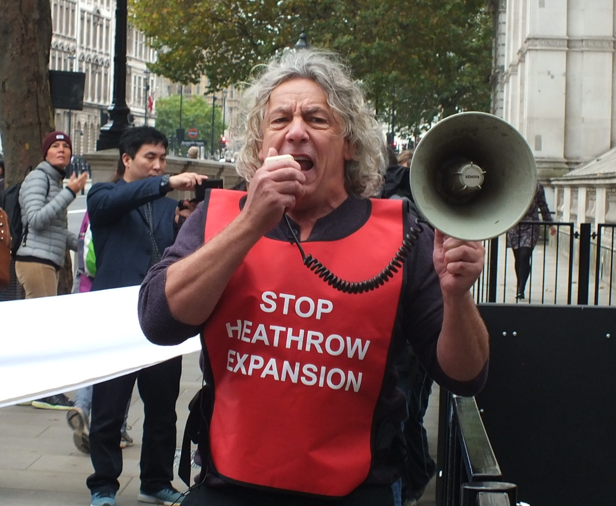 Harmondsworth villager makes sure that protesters are heard