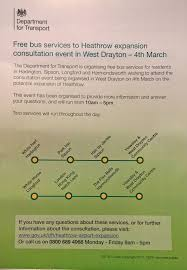 DfT leaflet of the two routes