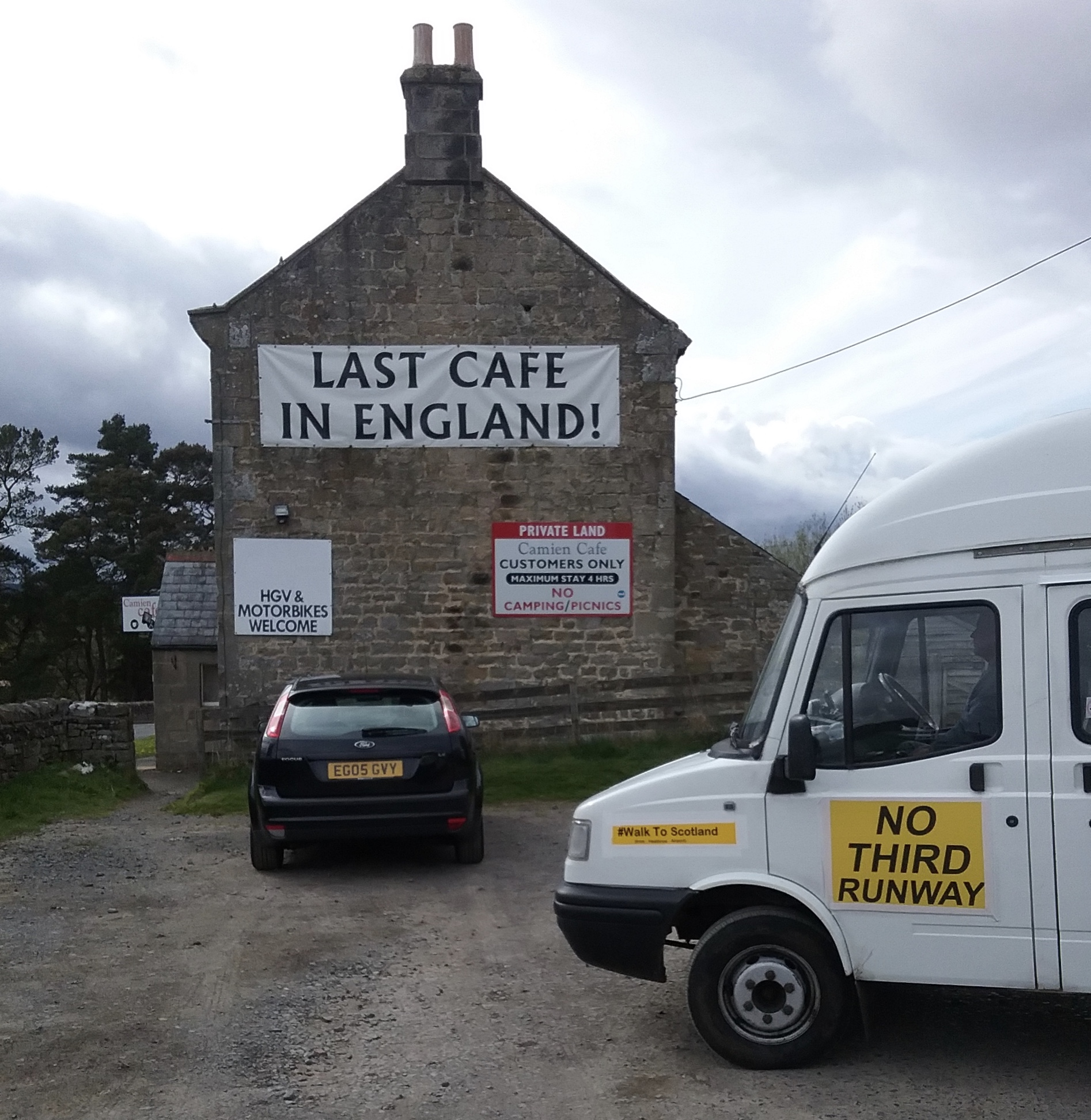 On the A68 - Camien Cafe, Rochester, Northumberland National Park