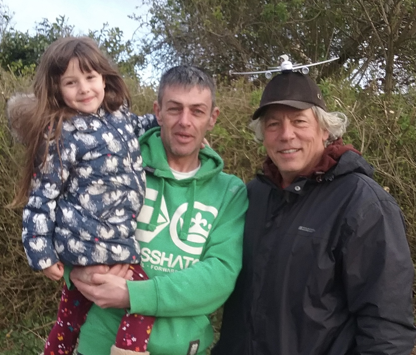 Kevin and daughter Sophie pictured with Neil