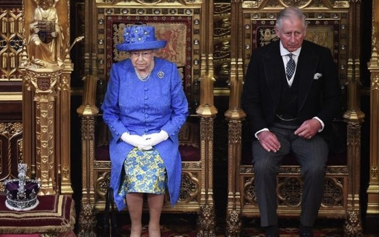 Pomp of the occasion absent due to the speech being delayed and the Queen needing to meet other commitments today