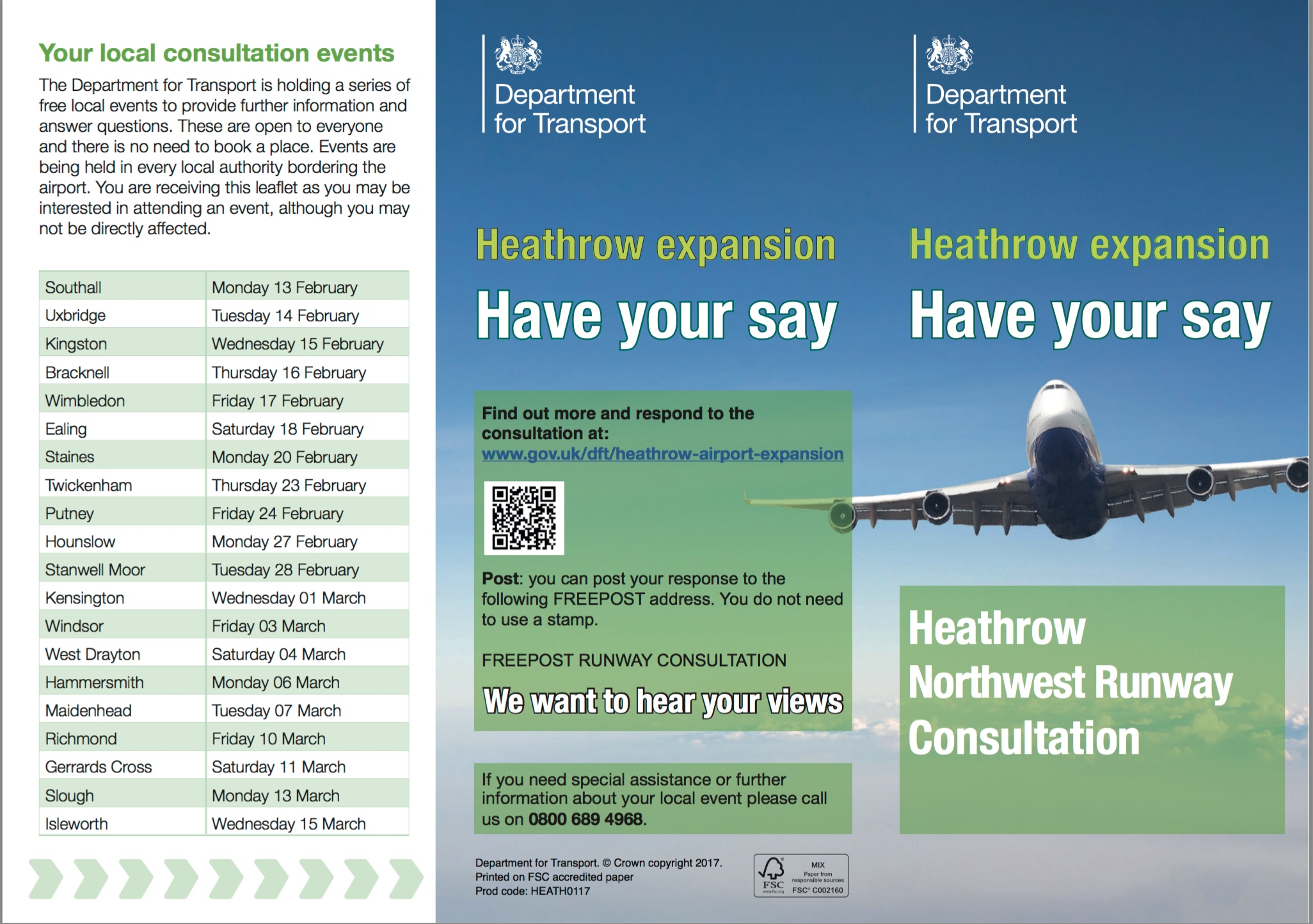 The Consultation leaflet makes people search out information that it could have placed on this leaflet put through 1.5 million letterboxes