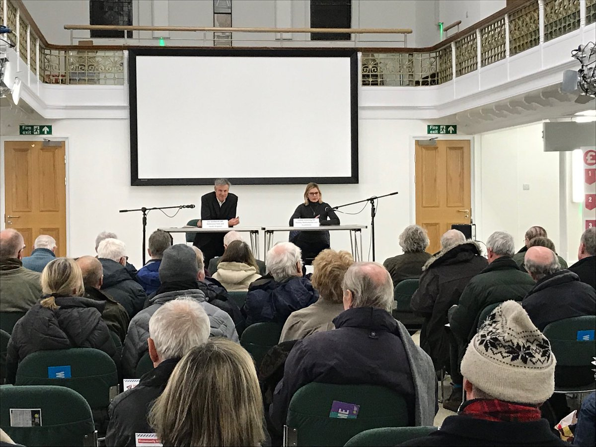 Justine Greening MP holds a public meeting in Putney with Zac Goldsmith MP
