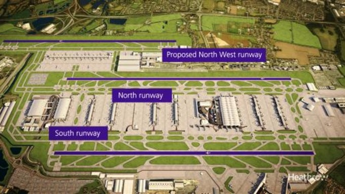 Heathrow's proposals painted green and purple to disguise the bleak reality of a third runway