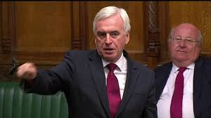 Hayes and Harlington MP John McDonnell MP argues passionately against expansion during the debate before the vote. (Behind him, Mike Gapes for Ilford South grinned and ignored his pleas. He voted for the runway.)