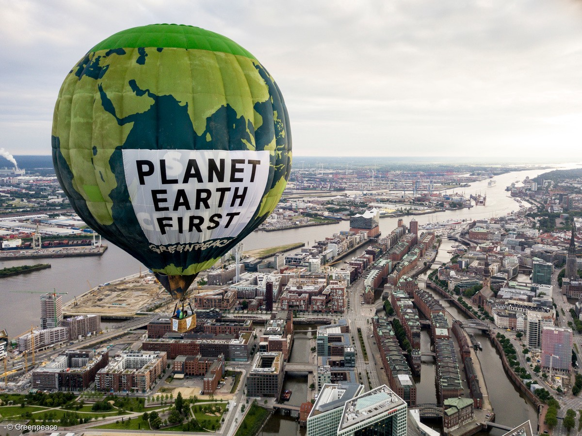 Greenpeace - raising awareness of the big threats to our planet