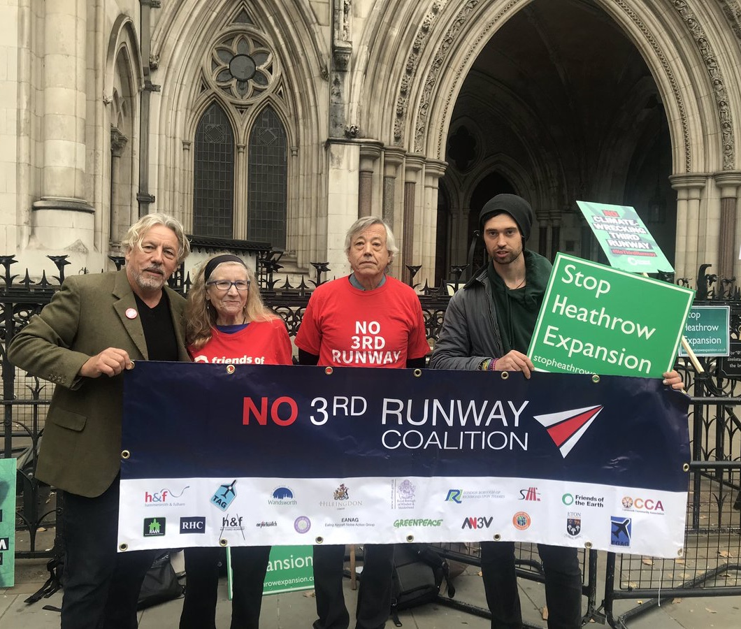 Members of the No 3rd Runway Coalition