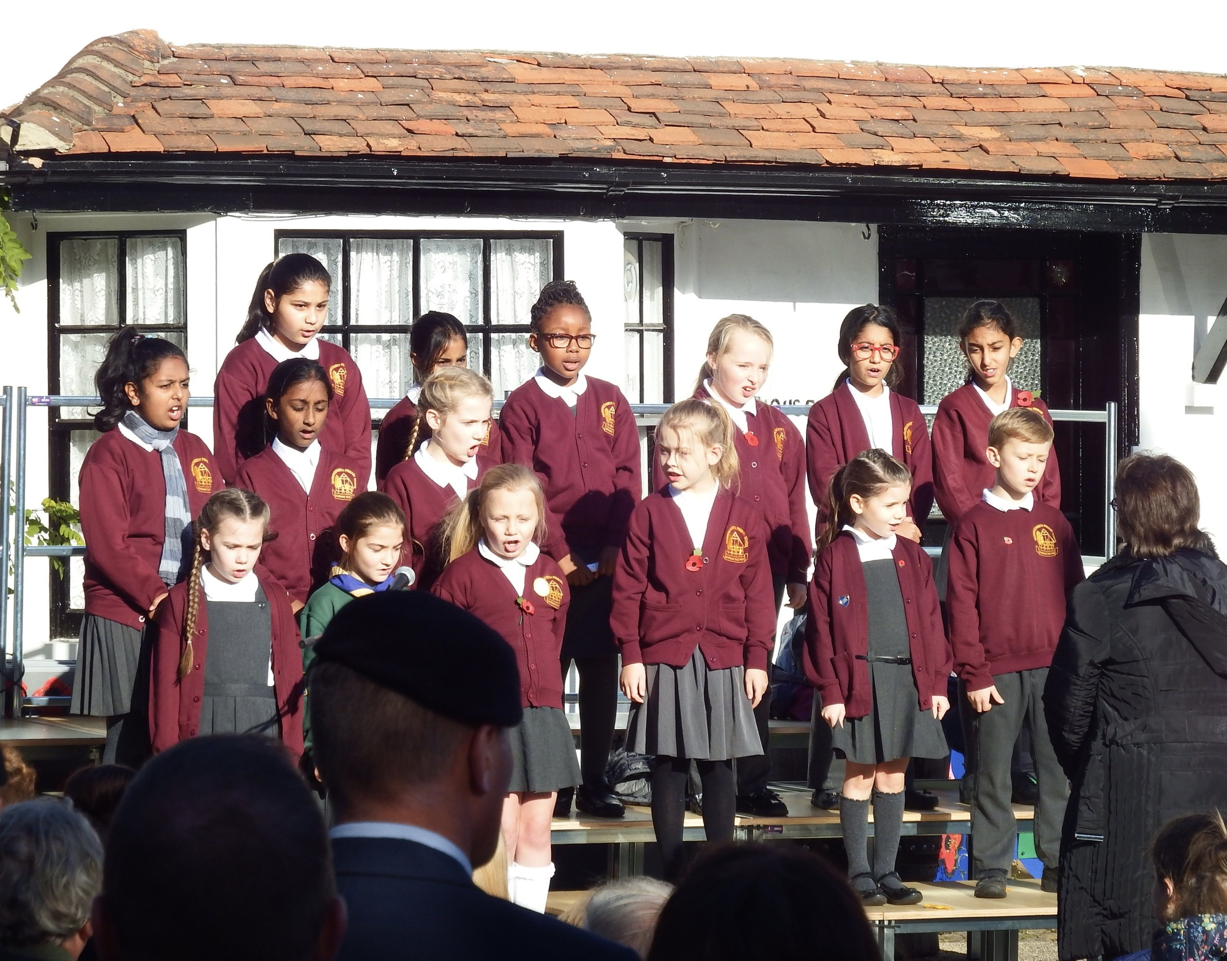 A performance by children from Harmondsworth Primary School