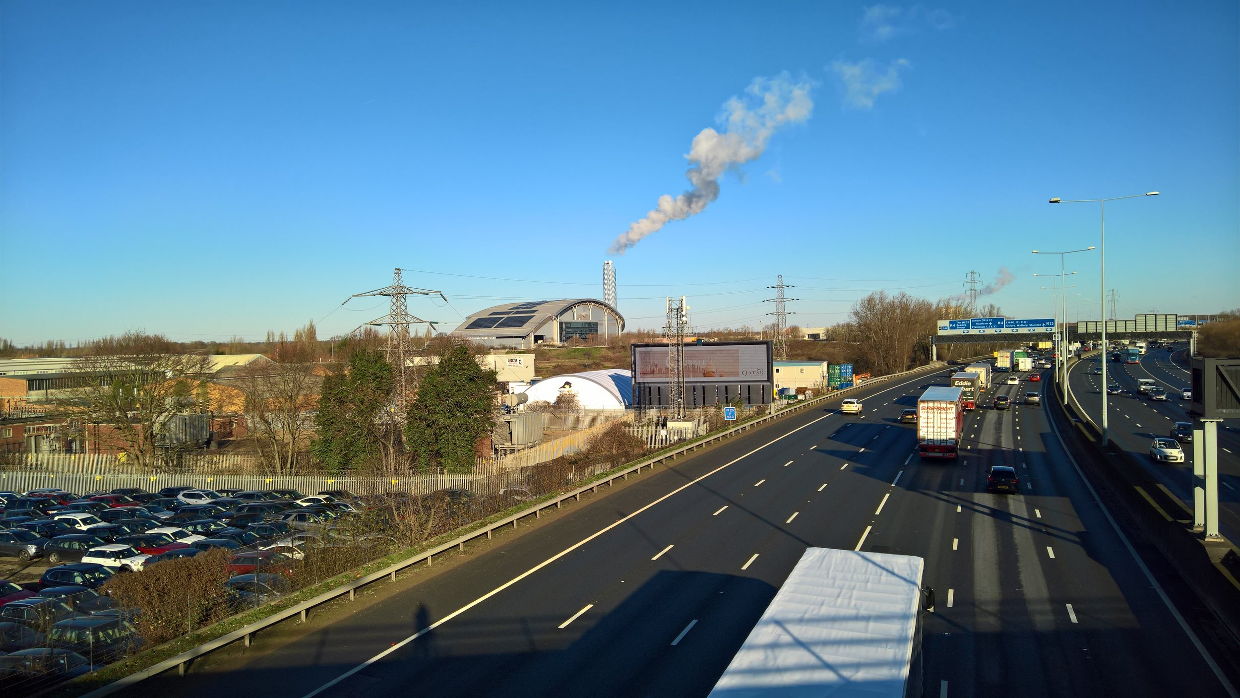 Slough's Incinerator puffing out smoke