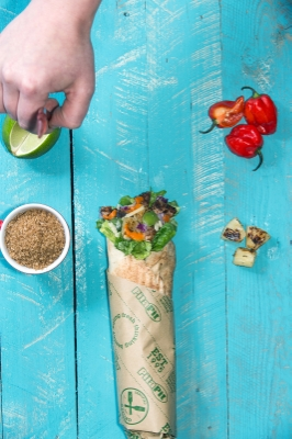 Food stylist   Rachael McNeela  makes a couple of minor adjustments,
