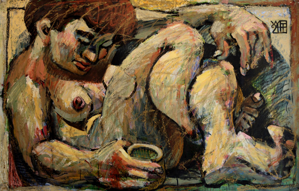 #1070 WOMAN WITH CUP, 1994