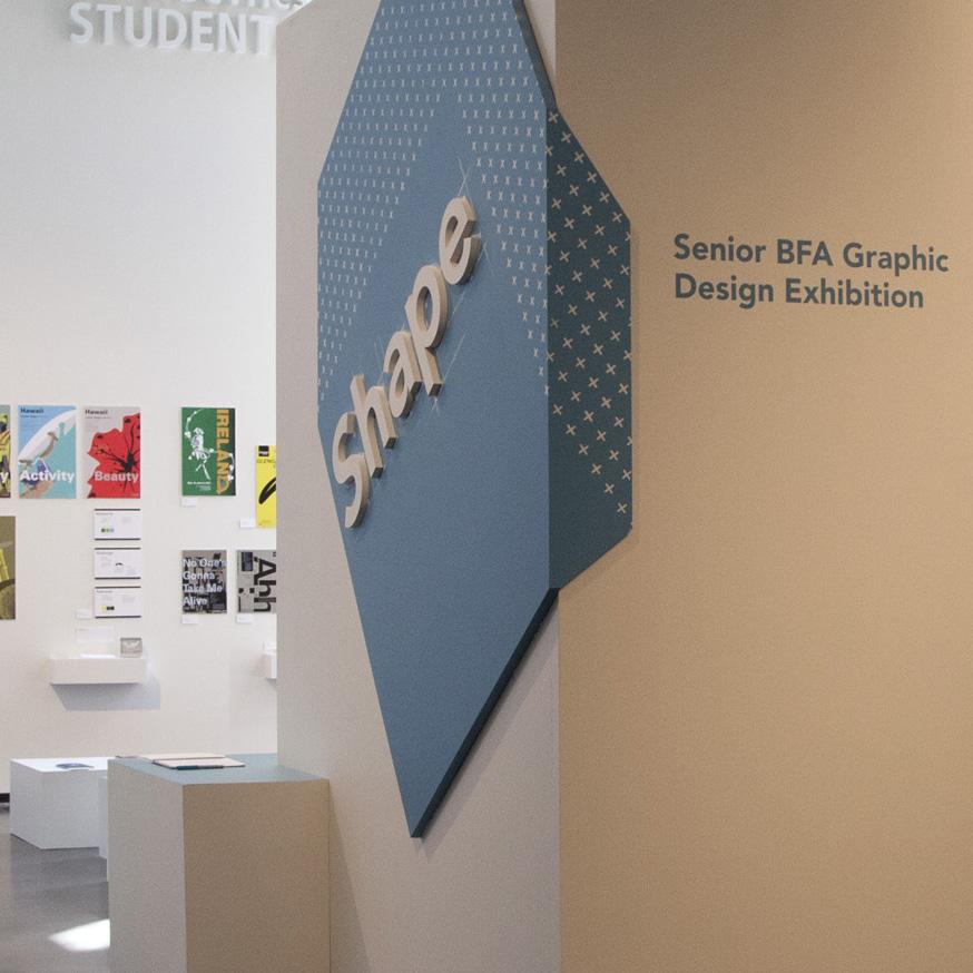 Shape: Senior BFA Graphic Design Exhibition