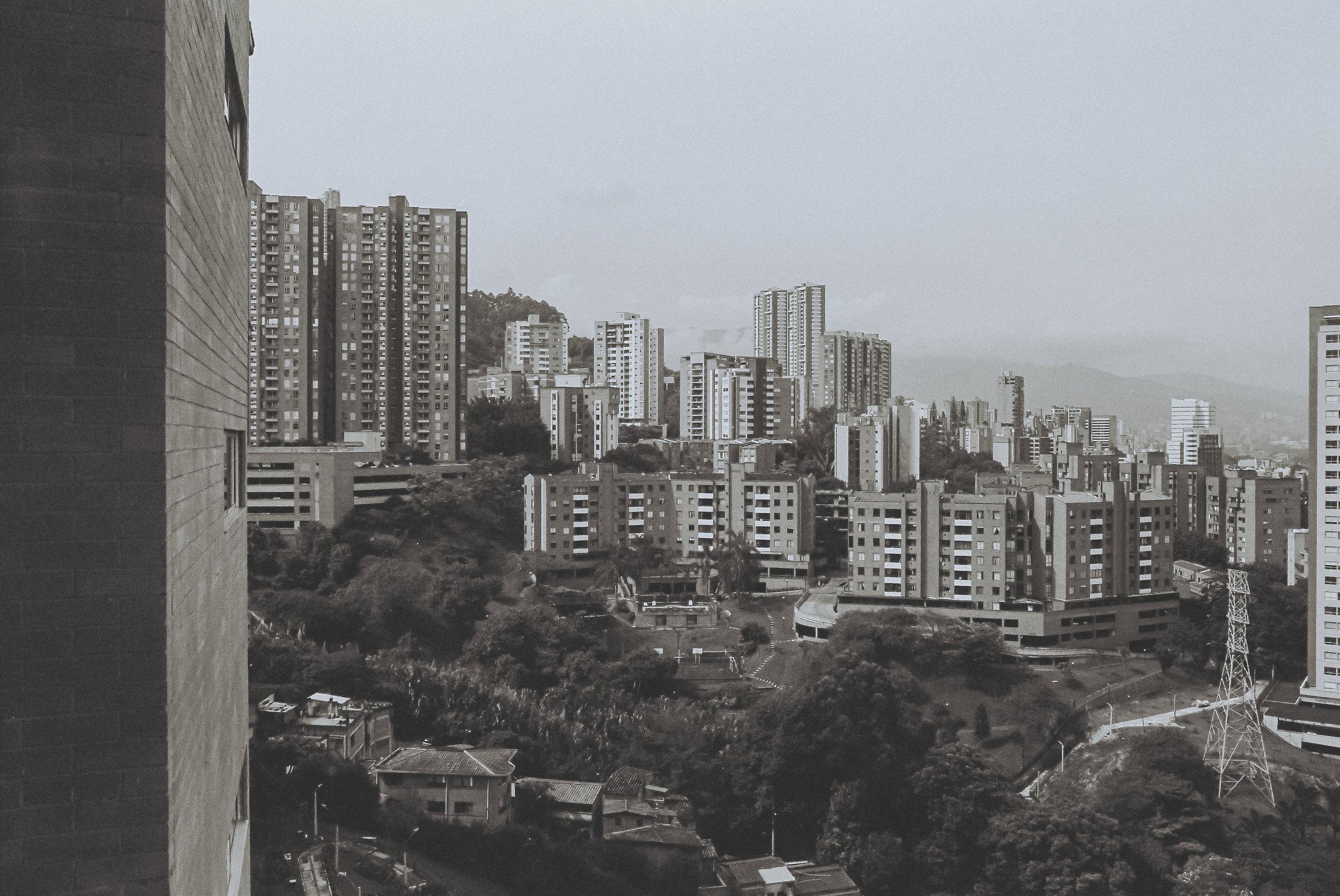 The skyline of El Poblado, my new favorite neighborhood in South America.