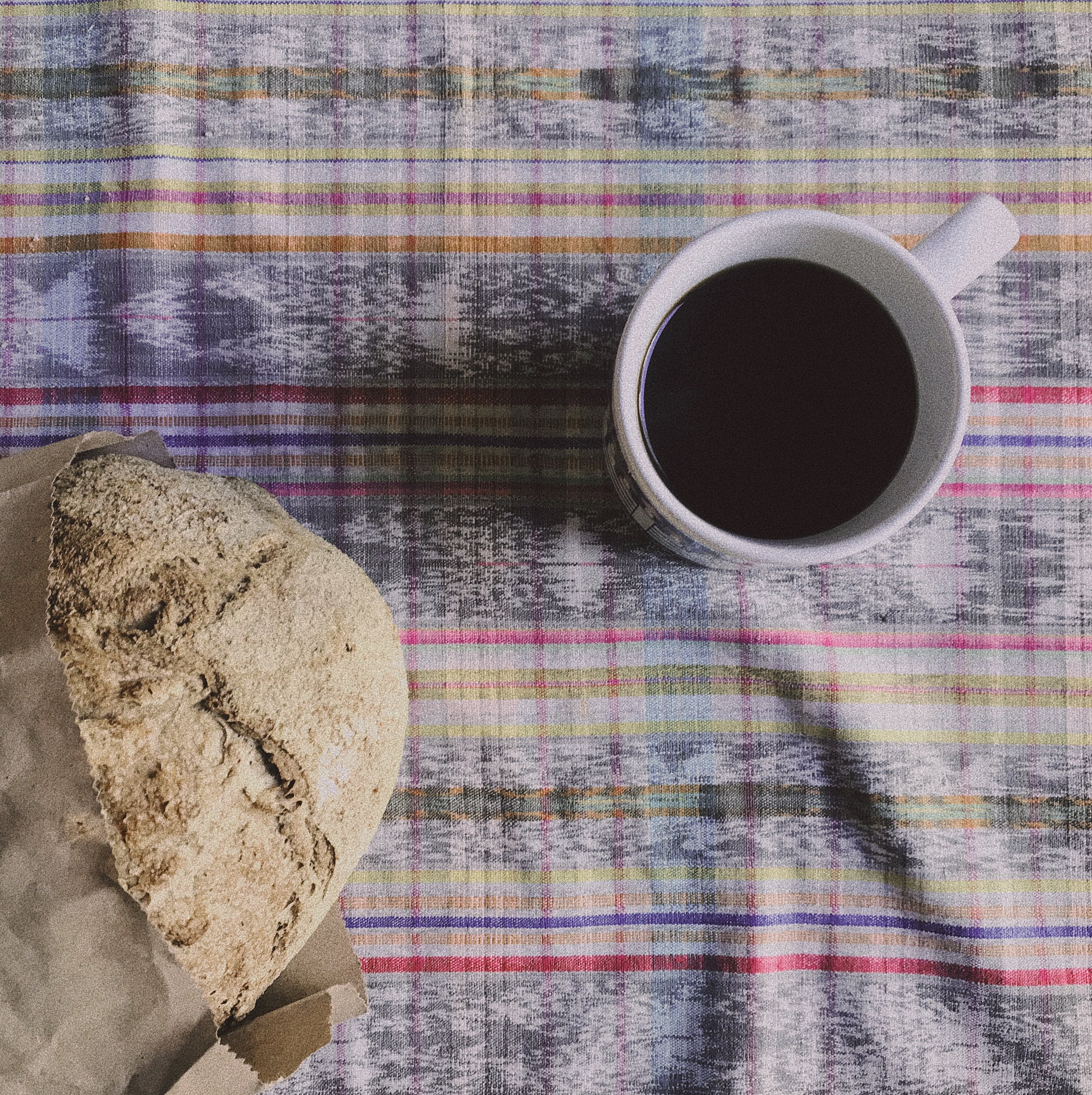 Fresh baked bread and fresh Guatemalan coffee to start the day off.