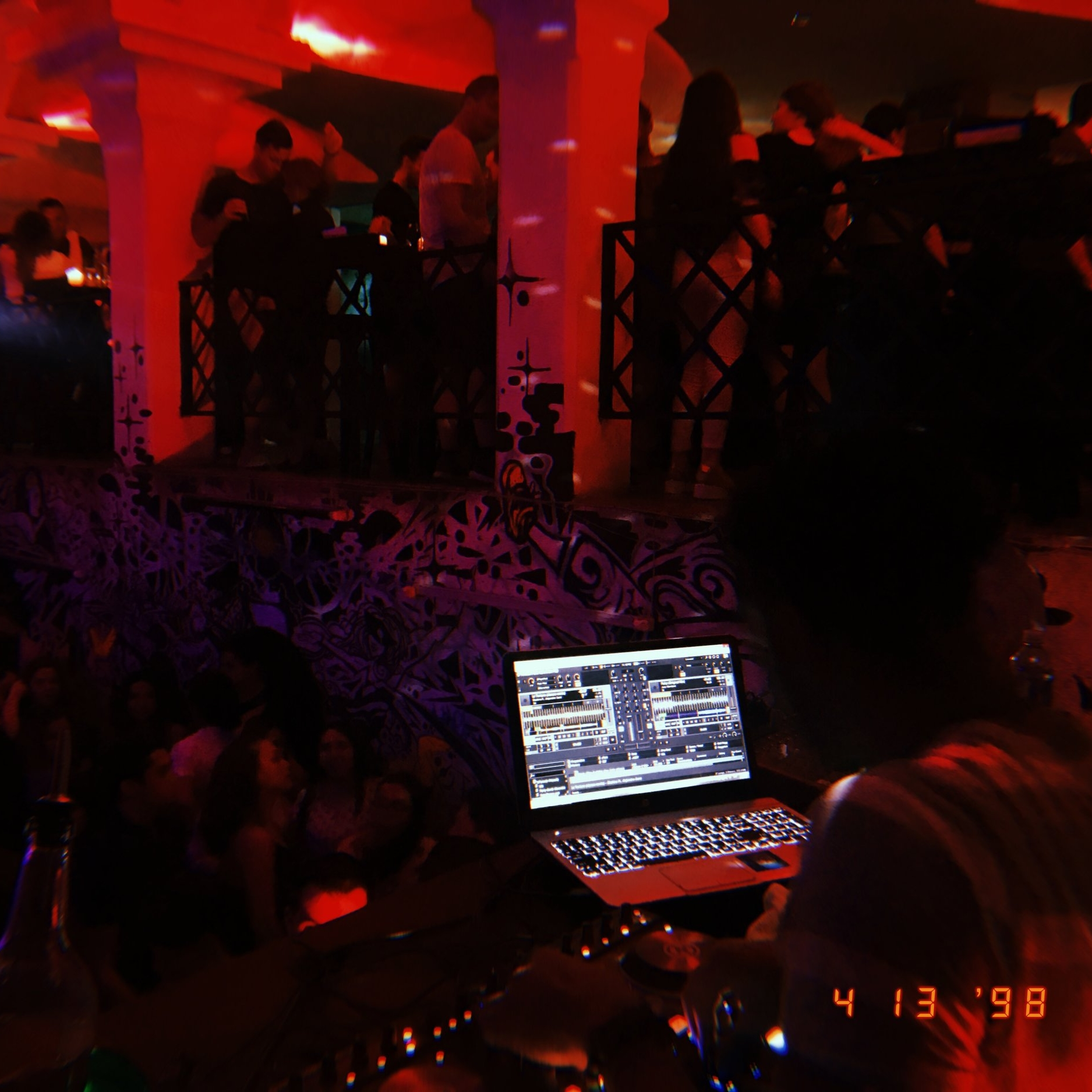 A view from the DJ booth in Vibras.