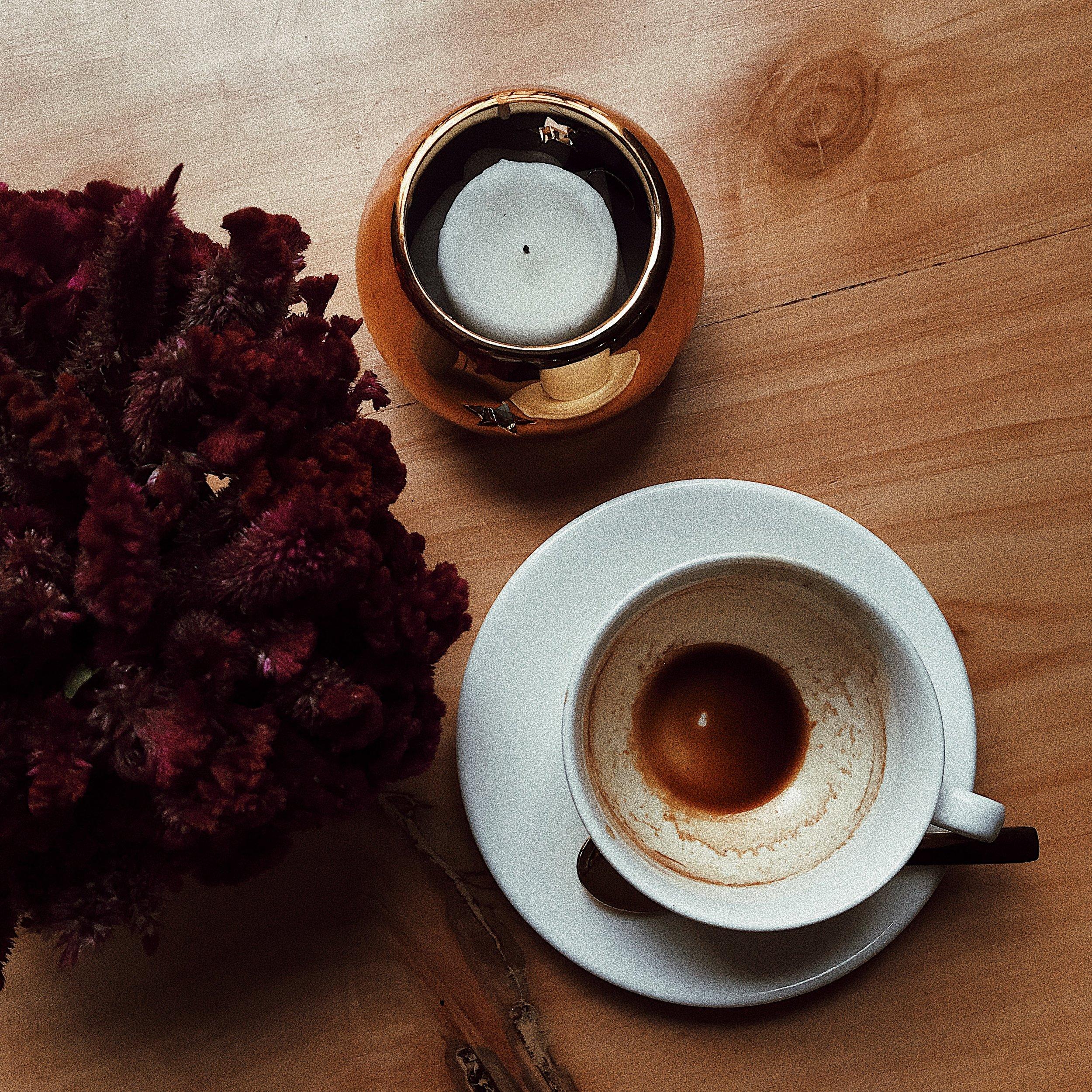 Double espresso inside of the new Artista de Cafe.
