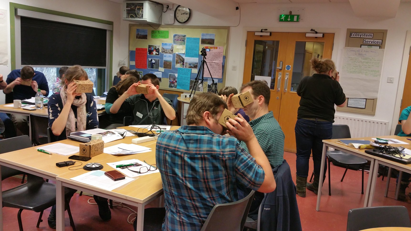 Workshop with fieldworkers earlier this year at the Field Studies Council Offices in Preston Montford, Shrewsbury, UK