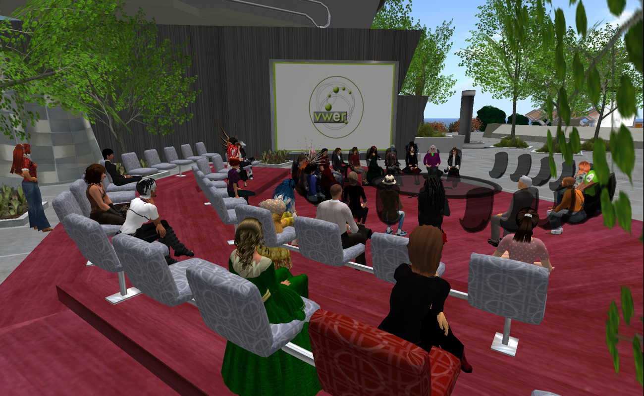 Picture:  Educators' meeting of the Virtual Worlds Educators Roundtable (VWER) in Second Life