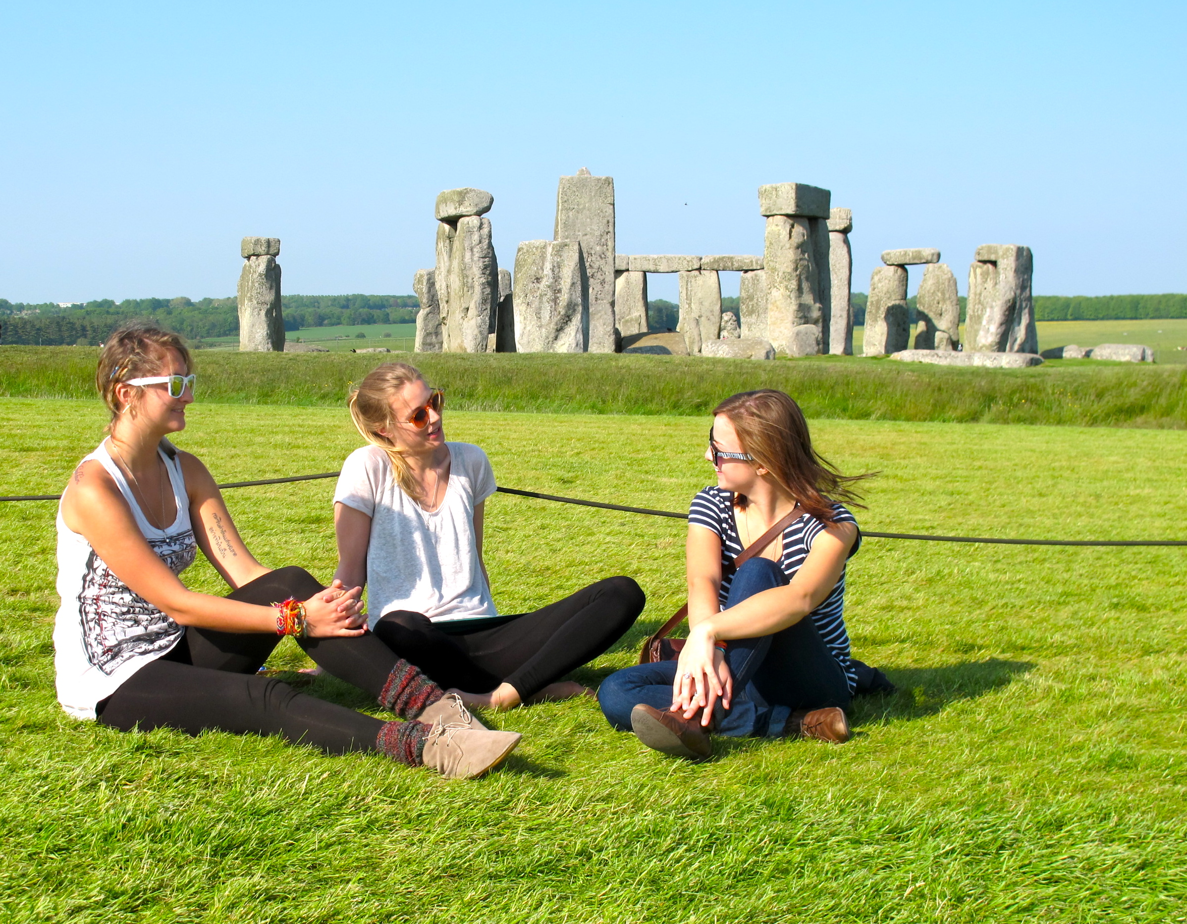 Friends at stonehenge