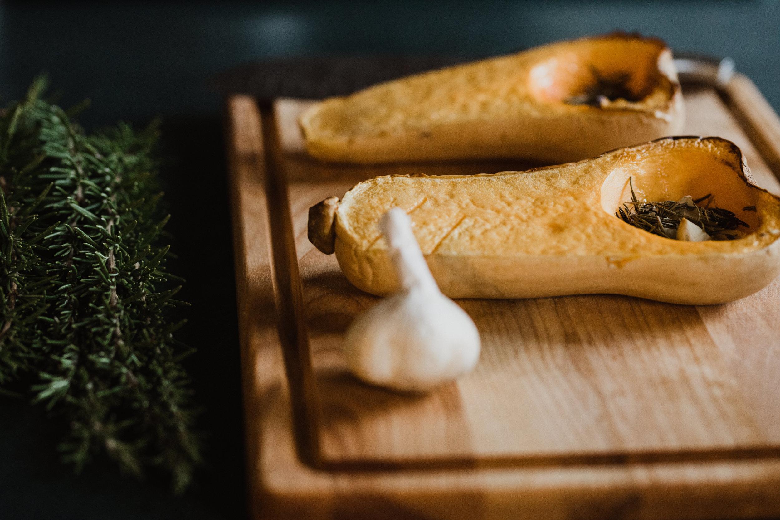 butternut squash and garlic