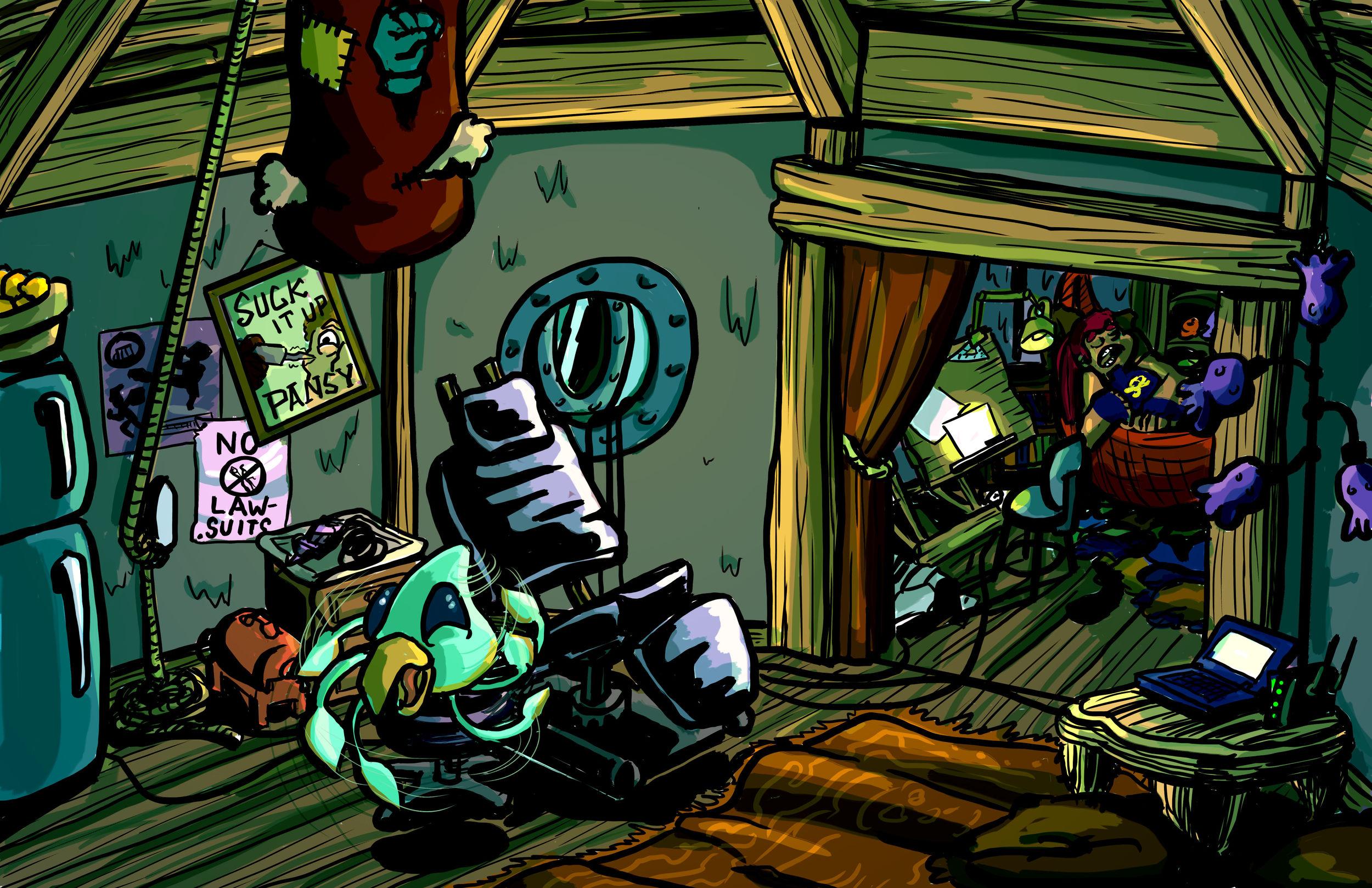 Bikini's Hut Interior Concept