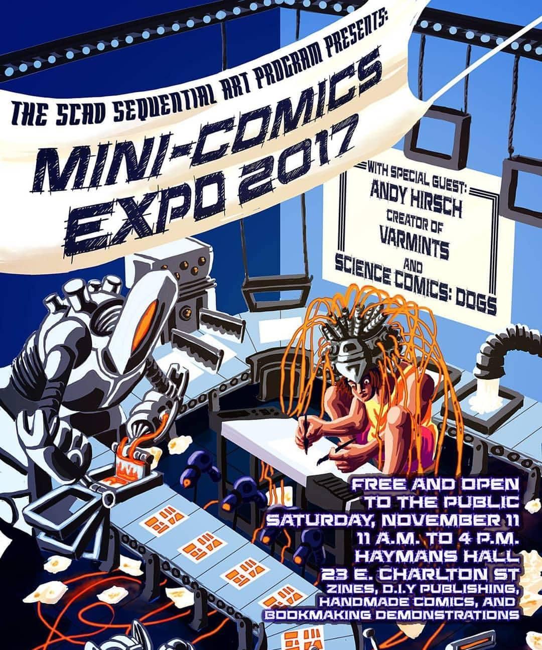 SCAD Mini-Comics Expo 2017 Poster