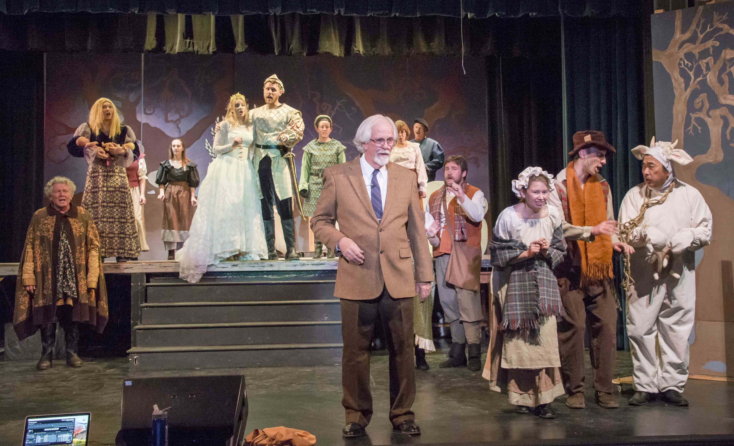 Cast of Into the Woods at their first dress rehearsal.JPG