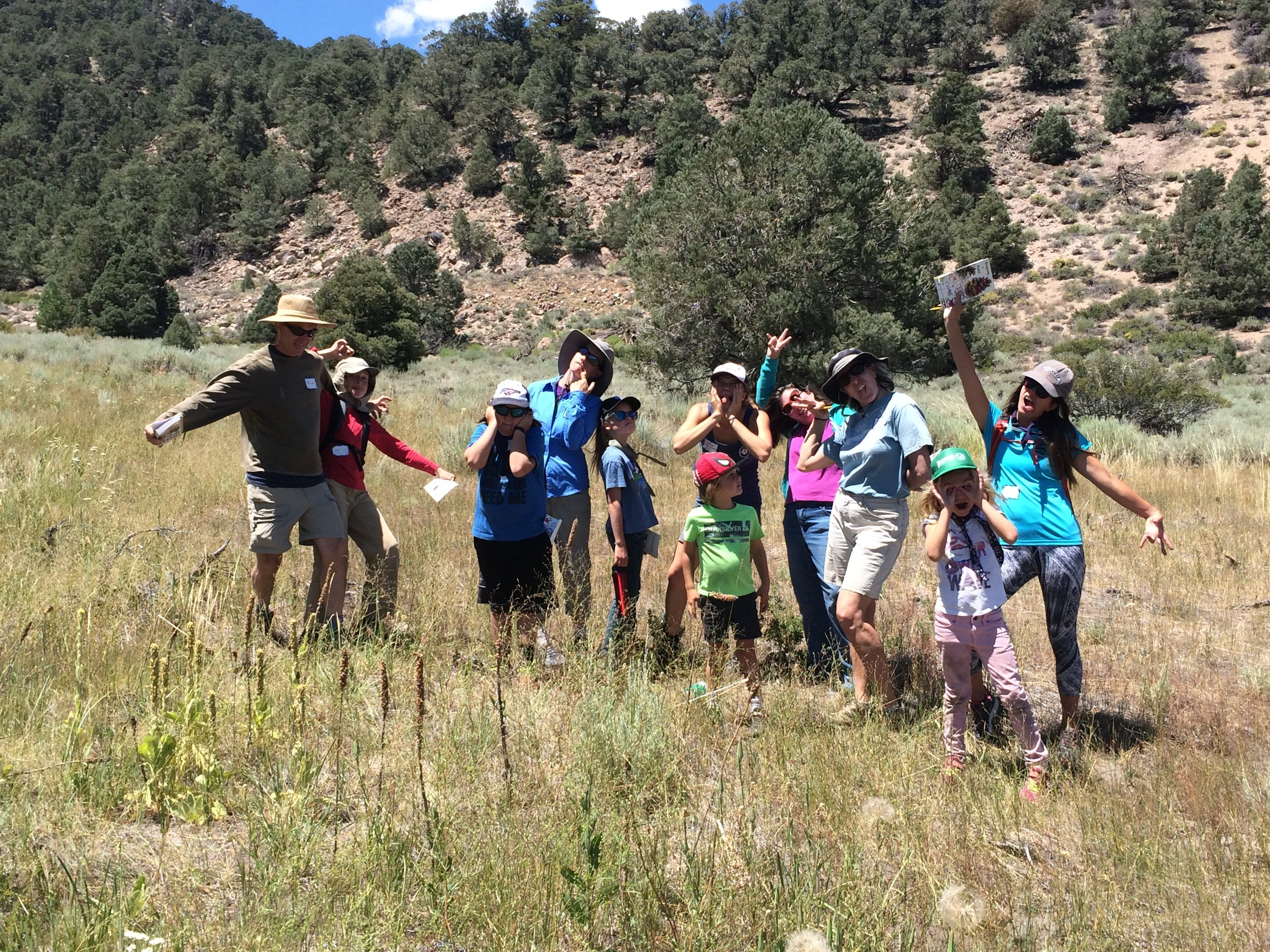 At Eastern Sierra Land Trust's Crayons & Paint on August 4th, kids and their families are invited to play games, get creative, and explore nature. Photo © Kay Ogden