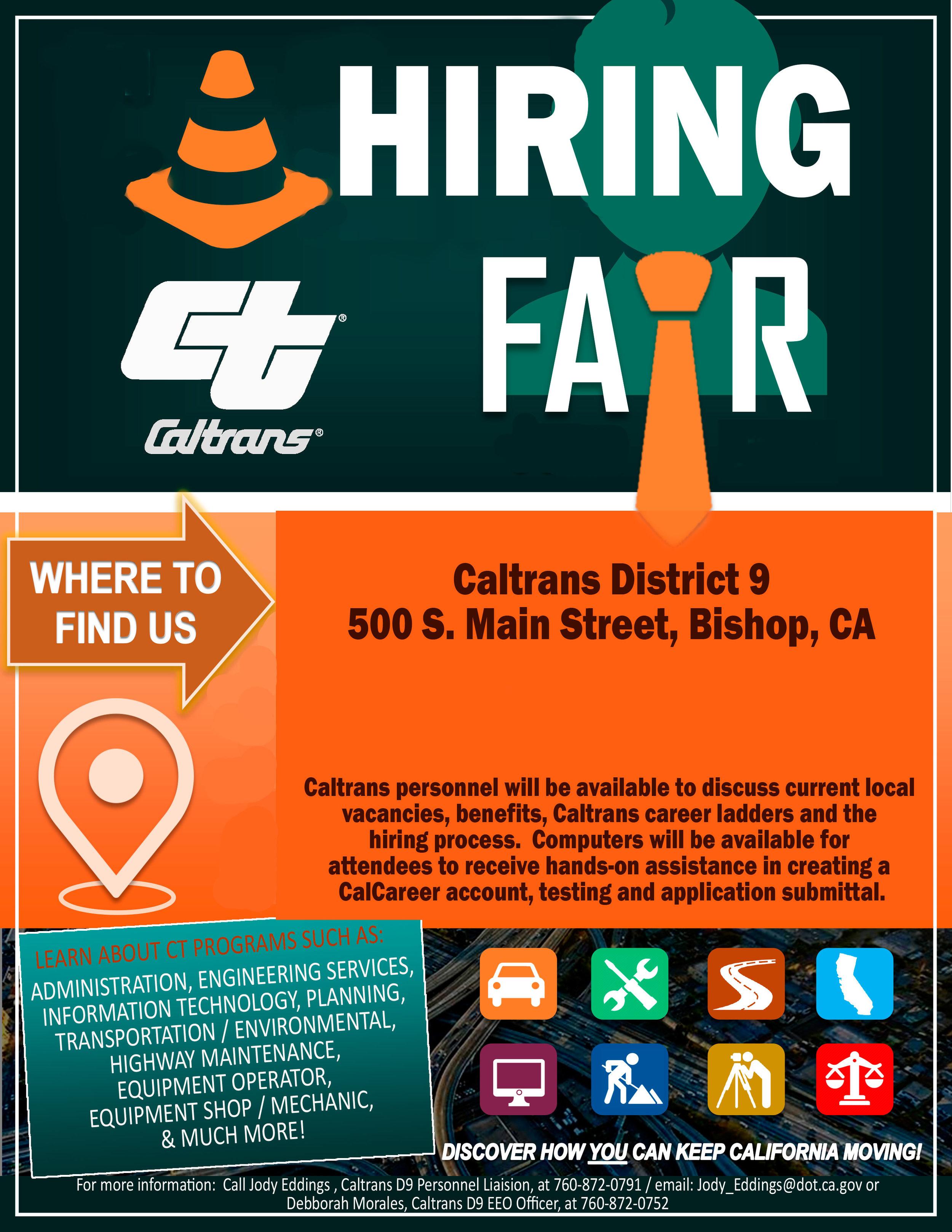 Caltrans: Job Fair — Blogging Bishop