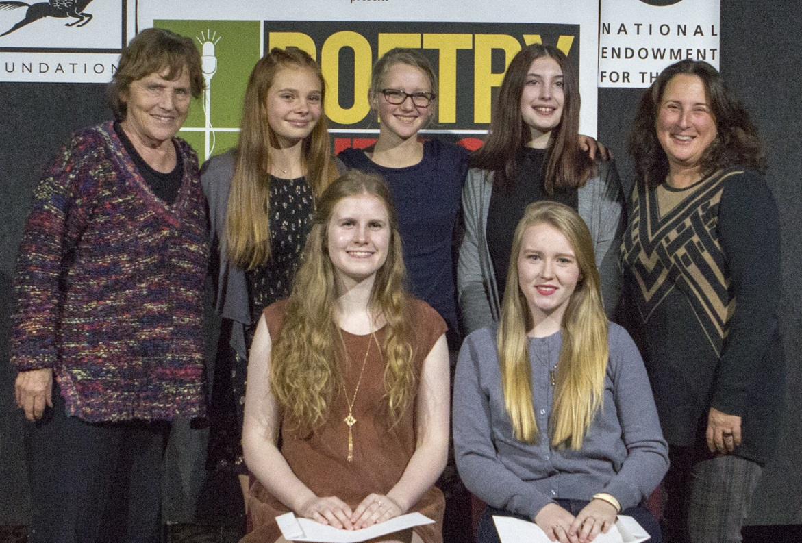 Bottom row (L to R) Winner Sophia Mckee and Runner-Up Storme Donahue Top row (L to R) Eva Poole Gilson, Ellery McQuilkin, Ana Wanner, Colette Zimmerman-Klapstein, Shira Dubrovner