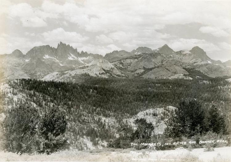Minarets, Mt. Ritter, and Banner Peak, photo by Burton Frasher.jpg