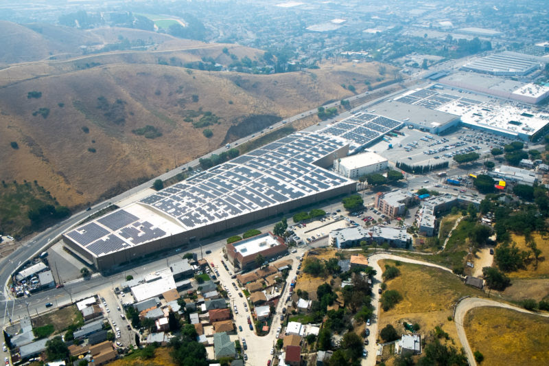 Photo Caption:A 1.6 MW FiT installation combined with 3 MW of net metered solar in LA's Lincoln Heights neighborhood.