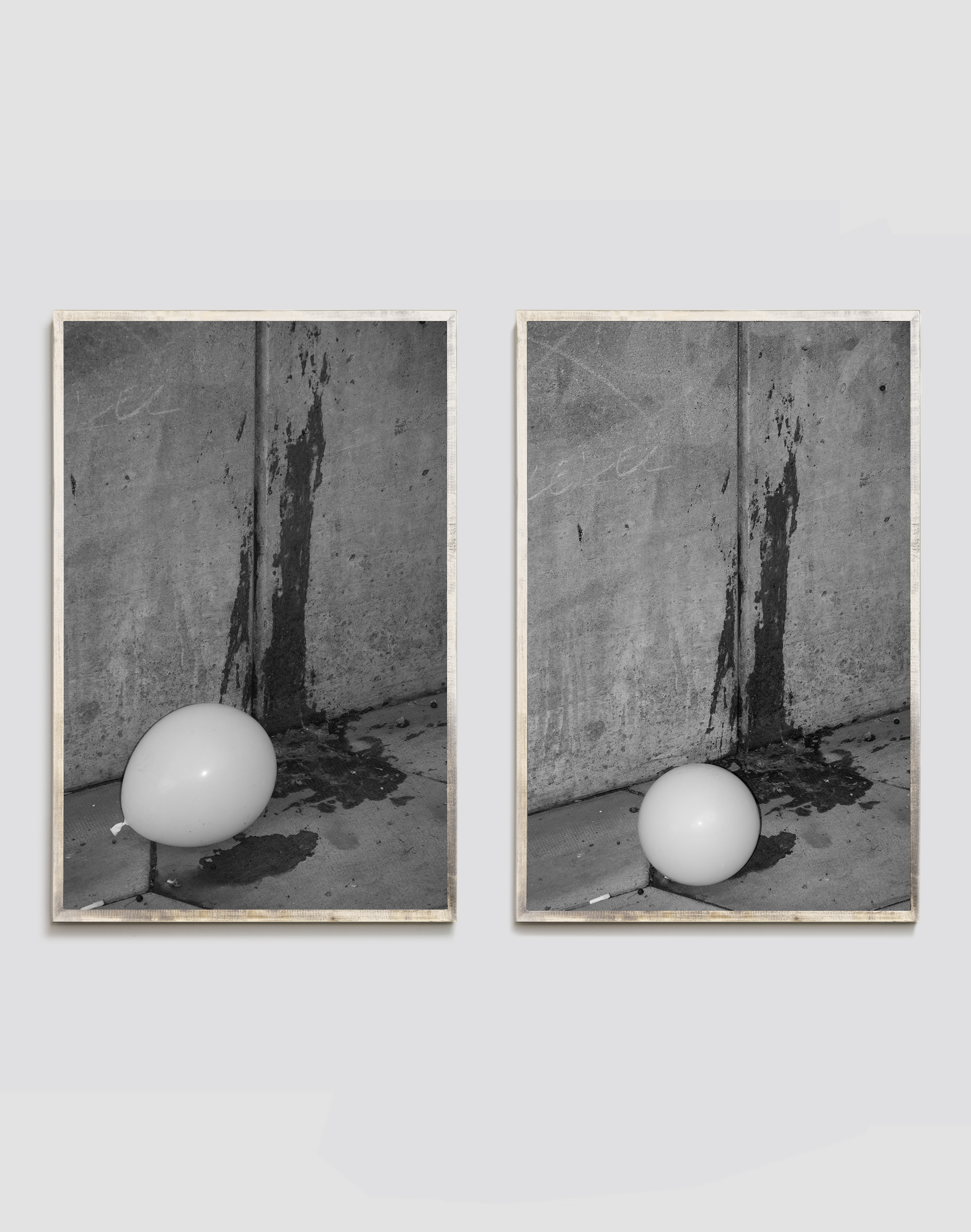 Untitled ( Ballon, Puke) Digital Pigment Print 20x30 inches x2